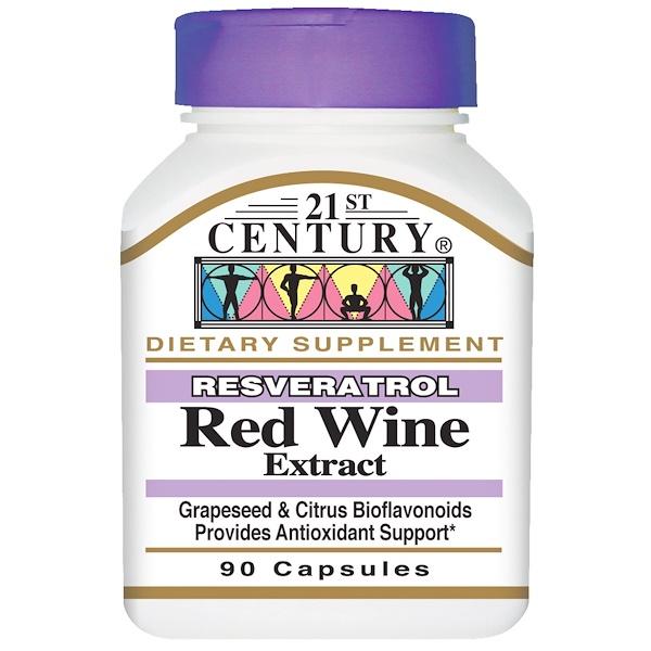 21st Century, Resveratrol Red Wine Extract, 90 Capsules