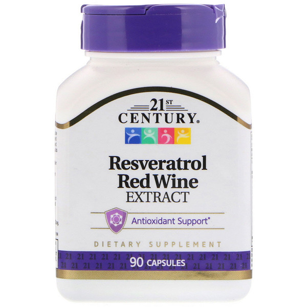 Resveratrol Red Wine Extract, 90 Capsules