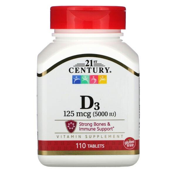 Vitamin D3, 125 mcg (5,000 IU), 110 Tablets