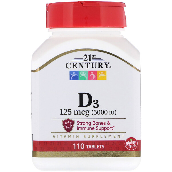 Vitamin D3, 125 mcg (5,000 IU), 110 Tablets