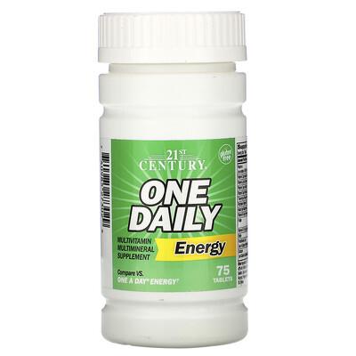 21st Century One Daily Energy, энергетическая добавка, 75таблеток