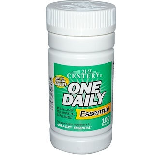 21st Century, One Daily, Essential, Multivitamin Multimineral, 100 Tablets