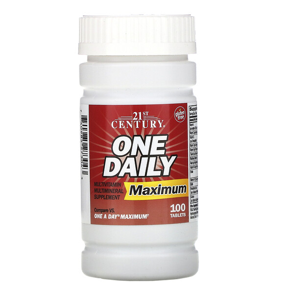 One Daily, Maximum, 100 Tablets
