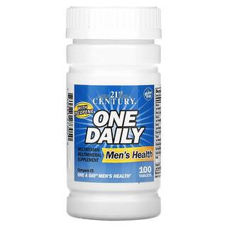 21st Century, 男性專用每日一片營養配方,100 片