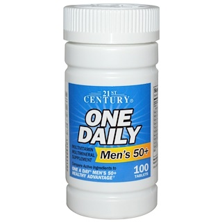 21st Century, One Daily, Men's 50+, Multivitamin Multimineral, 100 Tablets
