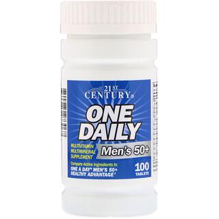 21st Century, One Daily, Men's 50+, Multivitamínico Multimineral, 100 comprimidos