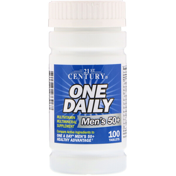 One Daily, Men's 50+, Multivitamin Multimineral, 100 Tablets