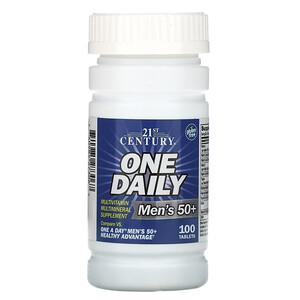 21 Сенчури, One Daily, Men's 50+, Multivitamin Multimineral, 100 Tablets отзывы покупателей