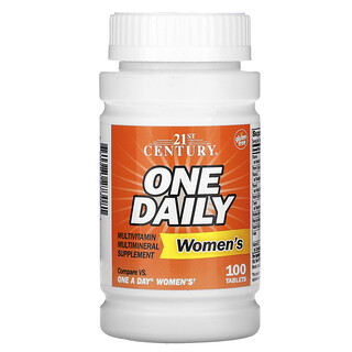 21st Century, One Daily, мультивитаминная и мультиминеральная добавка для женщин, 100таблеток