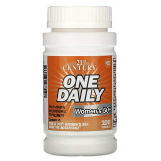 21st Century, One Daily, мультивитамины и мультиминералы для женщин старше 50лет, 100таблеток