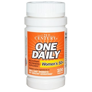 21st Century, One Daily, Woman's 50+, Multivitamin Multimineral , 100 Tablets