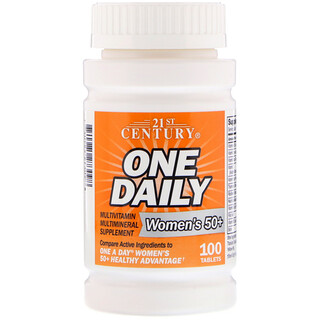 21st Century, One Daily, Woman's 50+, Multivitamin Multimineral, 100 Tablets