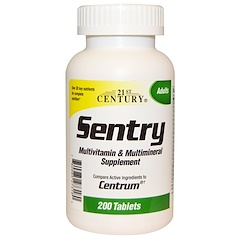 21st Century, Sentry, Multivitamin & Multimineral Supplement, 200 Tablets