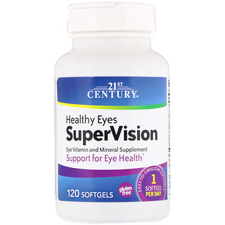 21st Century, Healthy Eyes SuperVision, 120 Softgels