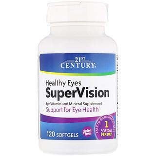 21st Century, SuperVision para Ojos saludables, 120 Cápsulas Gelificadas