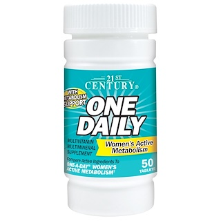 21st Century, One Daily Women's Active Metabolism, 50 Tablets