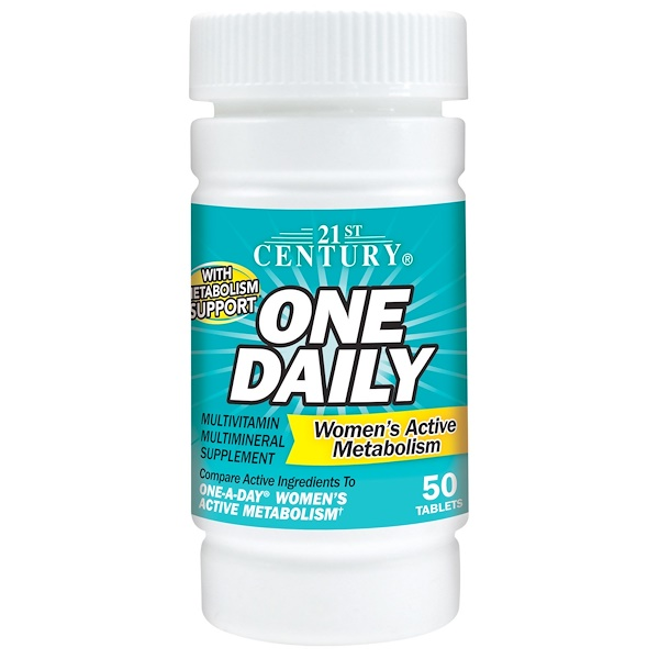 21st Century, One Daily Women's Active Metabolism, 50 Tablets (Discontinued Item)