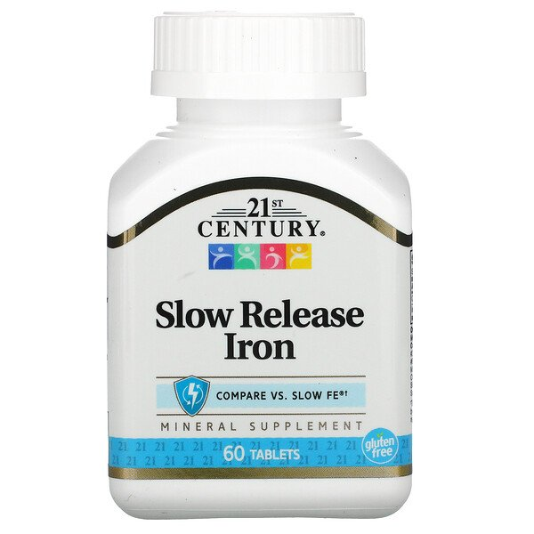 Slow Release Iron, 60 Tablets