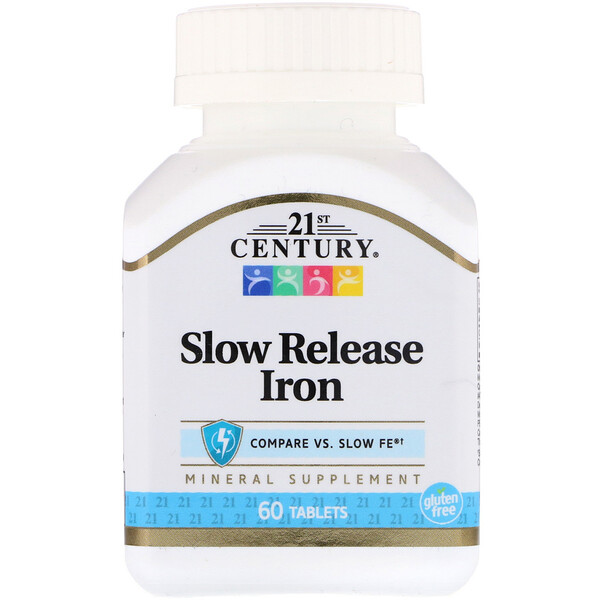 21st Century, Slow Release Iron, 60 Tablets