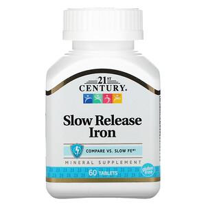 21 Сенчури, Slow Release Iron, 60 Tablets отзывы покупателей