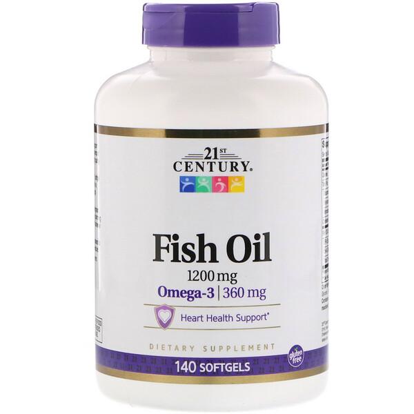 Fish Oil, 1,200 mg, 140 Softgels