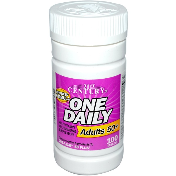 21st Century, One Daily, Adults 50+, 100 Tablets (Discontinued Item)