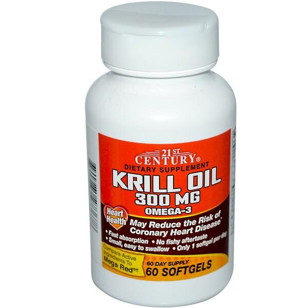 21st Century, Krill Oil, 300 mg, 60 Softgels