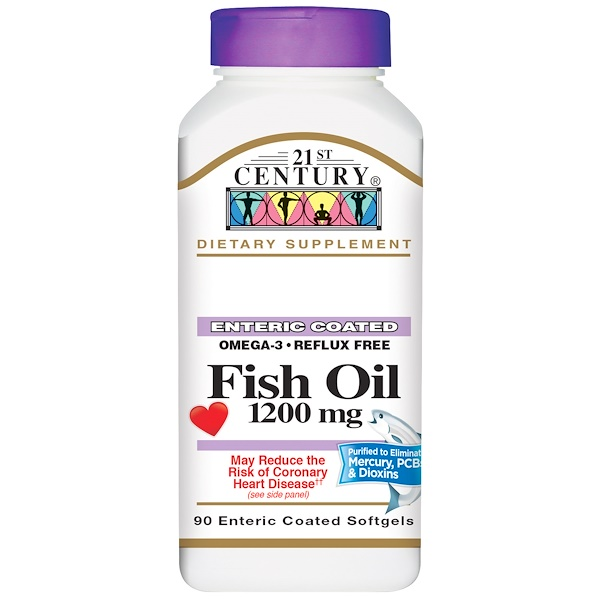 21st Century, Fish Oil , 1,200 mg, 90 Enteric Coated Softgels (Discontinued Item)