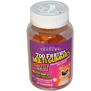 21 Сенчури, Zoo Friends Multi Gummies, Children's Multivitamin Supplement, 60 Gummies отзывы покупателей
