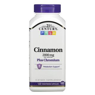 21st Century, Cinnamon Plus Chromium, 500 mg, 120 Vegetarian Capsules