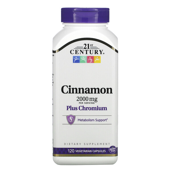 Cinnamon Plus Chromium, 2,000 mg, 120 Vegetarian Capsules