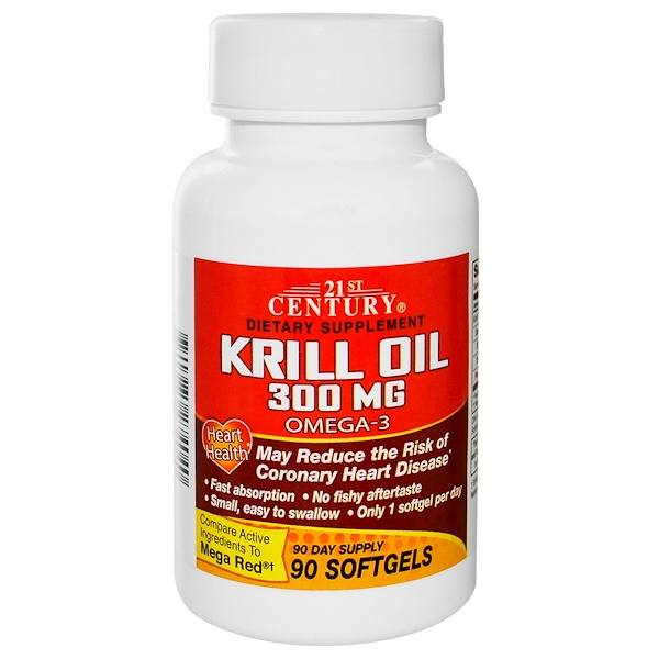 21st Century, Krill Oil, 300 mg, 90 Softgels (Discontinued Item)