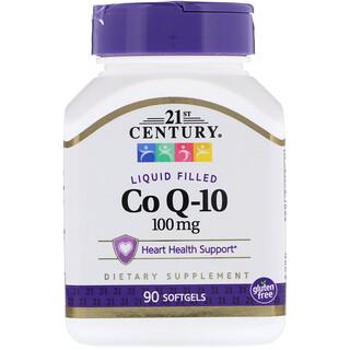 21st Century, Liquid Filled Co Q-10, 100 mg, 90 Softgels