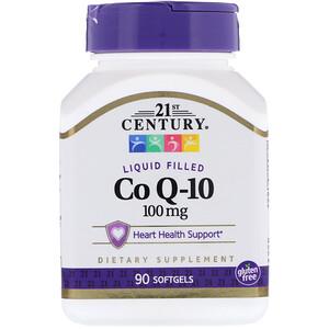 21 Сенчури, Liquid Filled CoQ-10, 100 mg, 90 Softgels отзывы покупателей