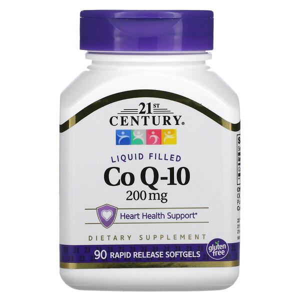 Co Q-10, 200 mg, 90 capsulas de Gel Suaves