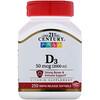 21st Century, Vitamin D3, 50 mcg (2,000 IU), 250 Liquid Softgels