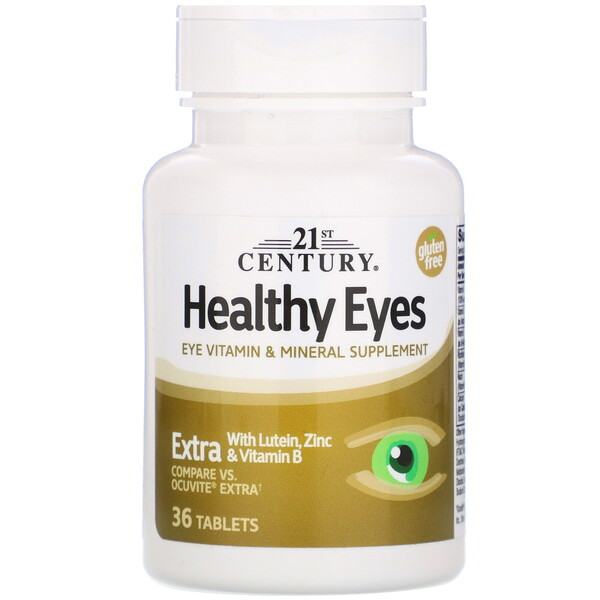 Healthy Eyes, Extra, 36 Tablets