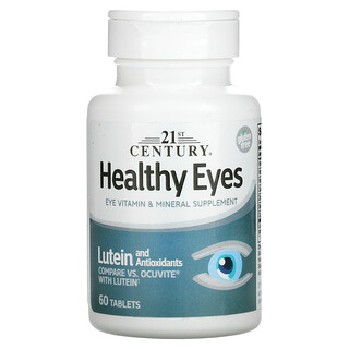 21st Century, Healthy Eyes, Lutein and Antioxidants, 60 Tablets