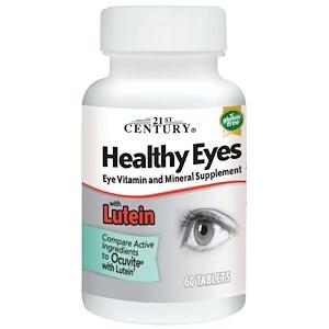 21st Century, Healthy Eyes (здоровые глаза) с лютеином, 60 таблеток