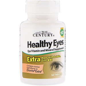 21 Сенчури, Healthy Eyes Extra, 50 Tablets отзывы покупателей