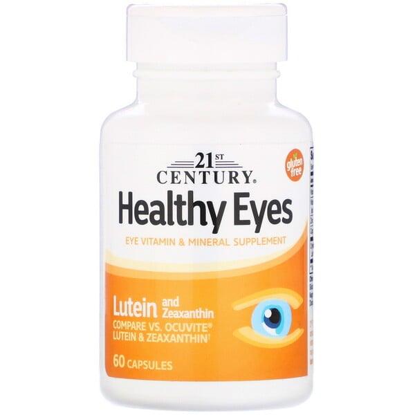 Healthy Eyes, לוטאין וזיאקסנטין, 60 כמוסות