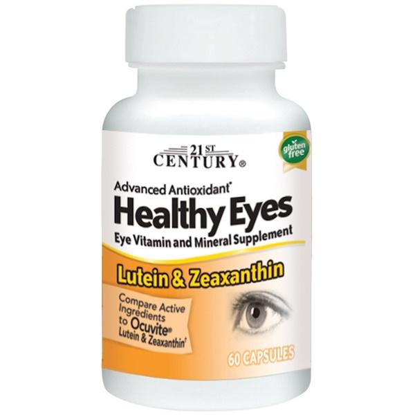 21st Century, 健康眼睛,葉黃素和玉米黃質,60 粒膠囊