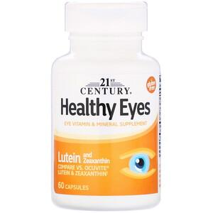 21 Сенчури, Healthy Eyes, Lutein & Zeaxanthin, 60 Capsules отзывы
