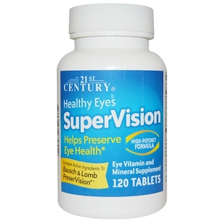 21st Century, Healthy Eyes SuperVision, High-Potency Formula, 120 Tablets