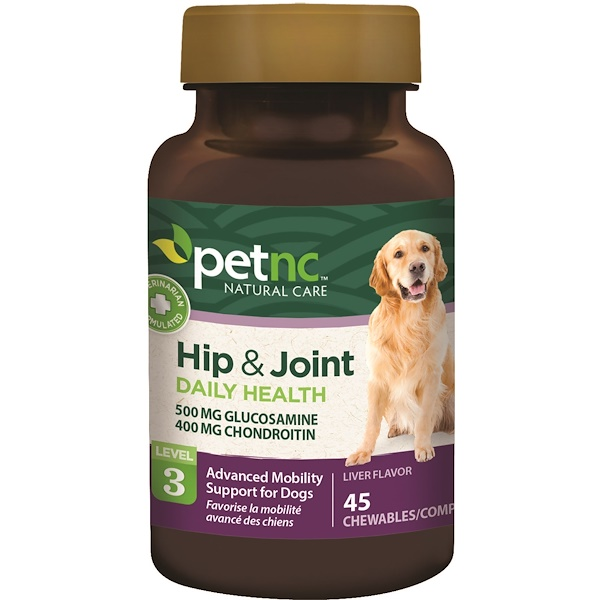 Pet Natural Care, Hip & Joint, Level 3, Liver Flavor, 45 Chewables