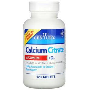 21 Сенчури, Calcium Citrate Maximum + D3, 120 Tablets отзывы покупателей