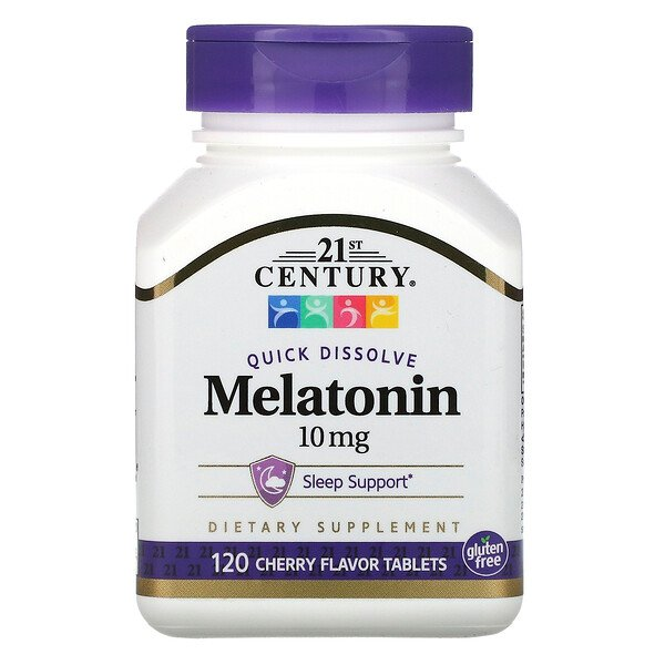 Quick Dissolve Melatonin, Cherry Flavor, 10 mg, 120 Tablets