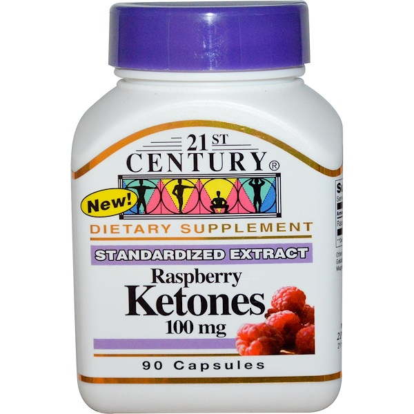 21st Century, Raspberry Ketones, 100 mg, 90 Capsules (Discontinued Item)