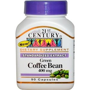 21 Сенчури, Green Coffee Bean, 400 mg, 90 Capsules отзывы