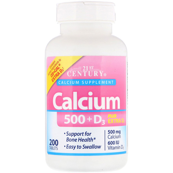 Calcium 500 + D3 Plus Extra D3, 200 Tablets